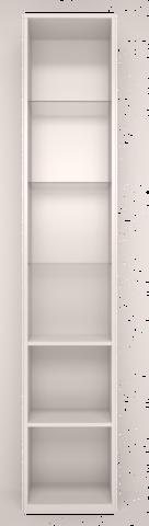 Шкаф-пенал левый со стеклом Виктория 17 Ижмебель белый глянец
