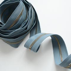 Молния металлическая №5, серо-голубой, цена за 10 см.