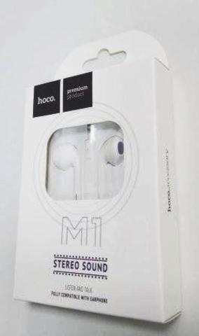 Наушники вставные HOCO M1 с микрофоном белый (1/31/310)