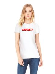 Футболка с принтом Ducati (Дукати) белая w002