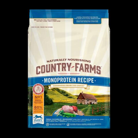 Country Farms Monoprotein Recipe Сухой корм для щенков с высоким содержанием курицы монопротеиновый, полнорационный