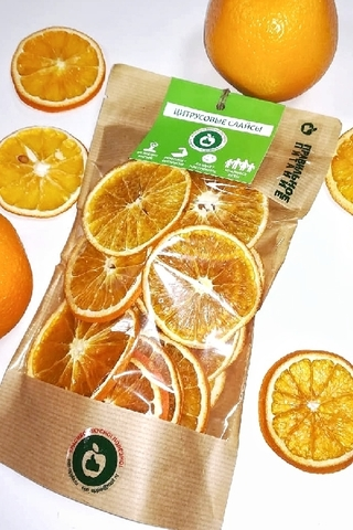 Апельсины сушёные с кожурой, 60 г