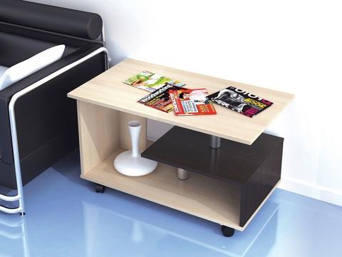 Журнальный стол Консул-5 ЛДСП ТЭКС дуб молочный, венге