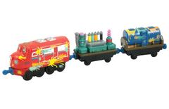Распродажа! Chuggington Паровозик Уилсон и 2 вагончика с краской (LC54053)