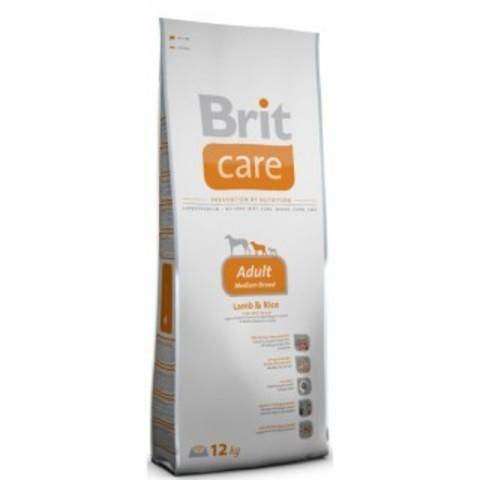 BRIT Care Сухой корм для взрослых собак с ягненком и рисом Adult Medium Breed Lamb&Rice