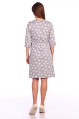 Мамаландия. Комплект для беременных и кормящих халат и сорочка, лапки/серый вид 6
