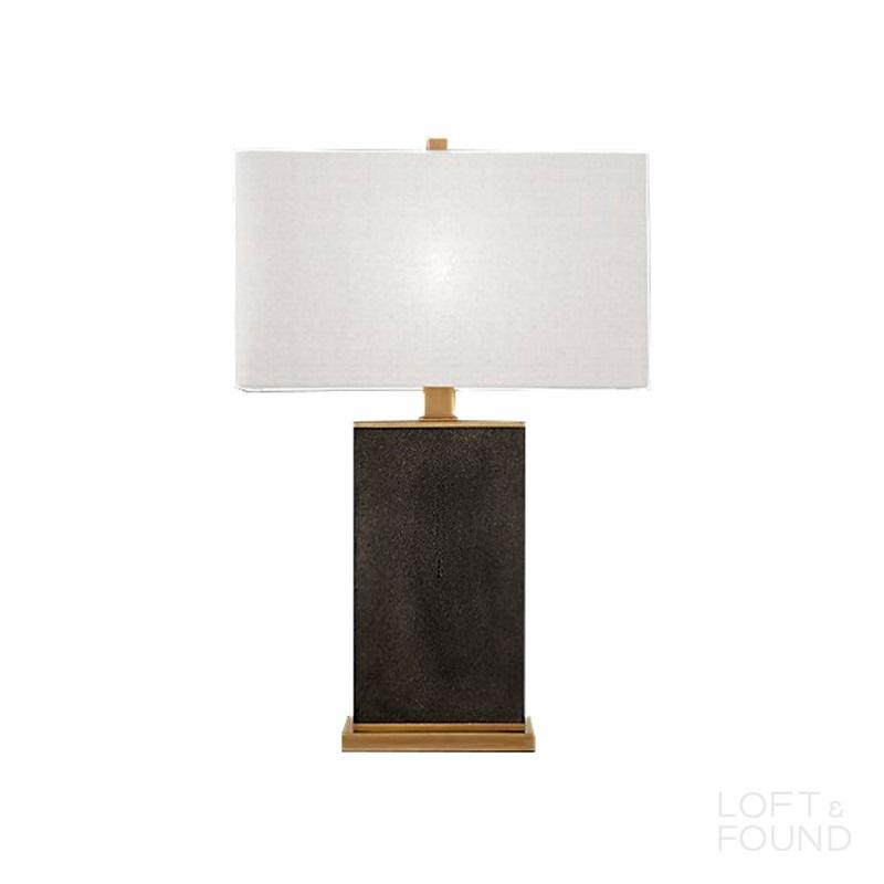 Настольная лампа Delano Shagreen Rectangular Table Lamp