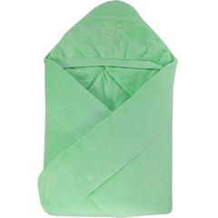 Папитто. Конверт-одеяло велюр с вышивкой, салатовый вид 1