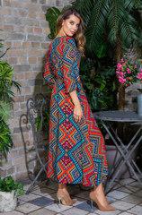 Длинное платье из 100% вискозы длинный рукав