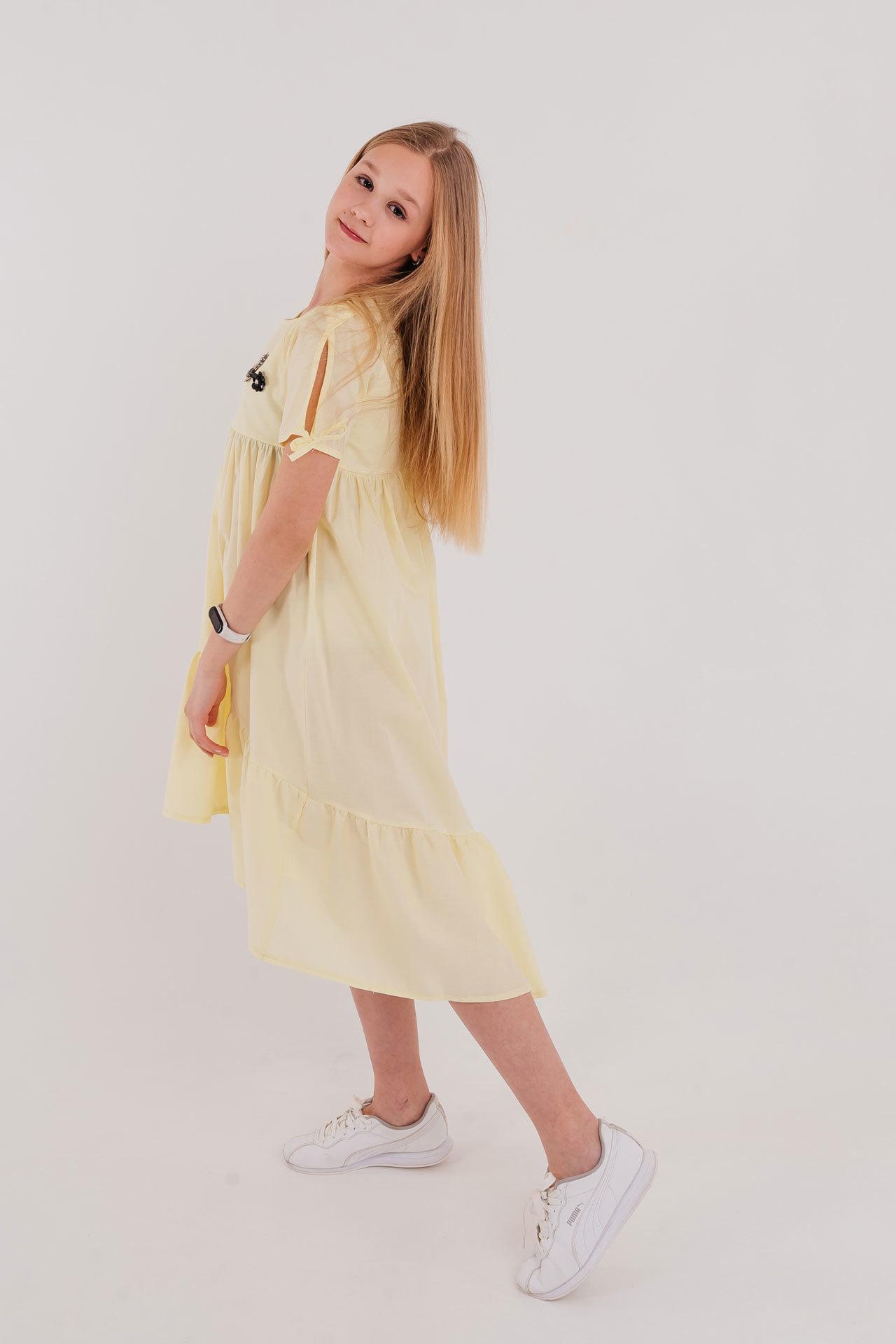 Платье хлопок удлиненное Brows Kids Турция, 7110 (128-164)