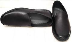 Чёрные мокасины слипоны мужские стиль casual Broni M36-01 Black.
