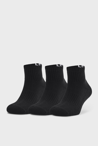 Черные носки UA Core QTR (3 пары) Under Armour