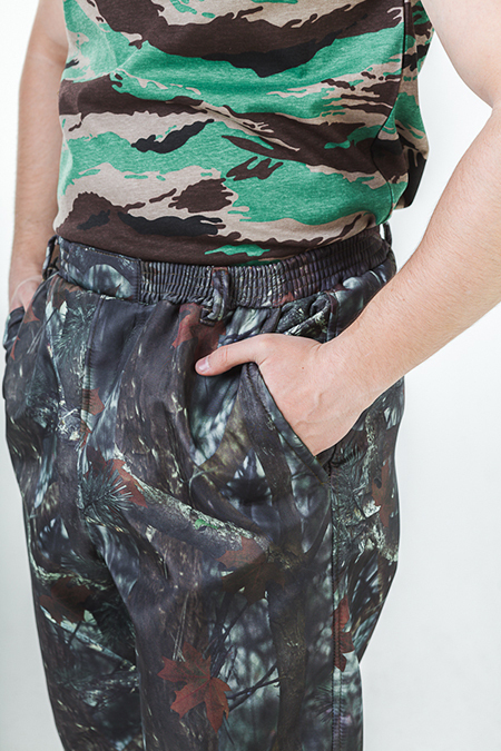 Брюки на резинке со шлевкам и боковыми карманами