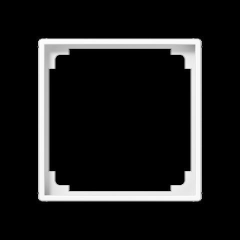 Рамка на 1 пост, промежуточная, для изделий 45х45mm. Цвет Белый. JUNG AS. A590ZAWW