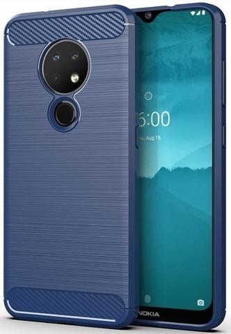 Чехол Nokia 6.2 (7.2) цвет Blue (синий), серия Carbon, Caseport