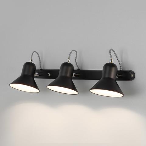 Настенный светильник с поворотными плафонами 20083/3 черный/хром