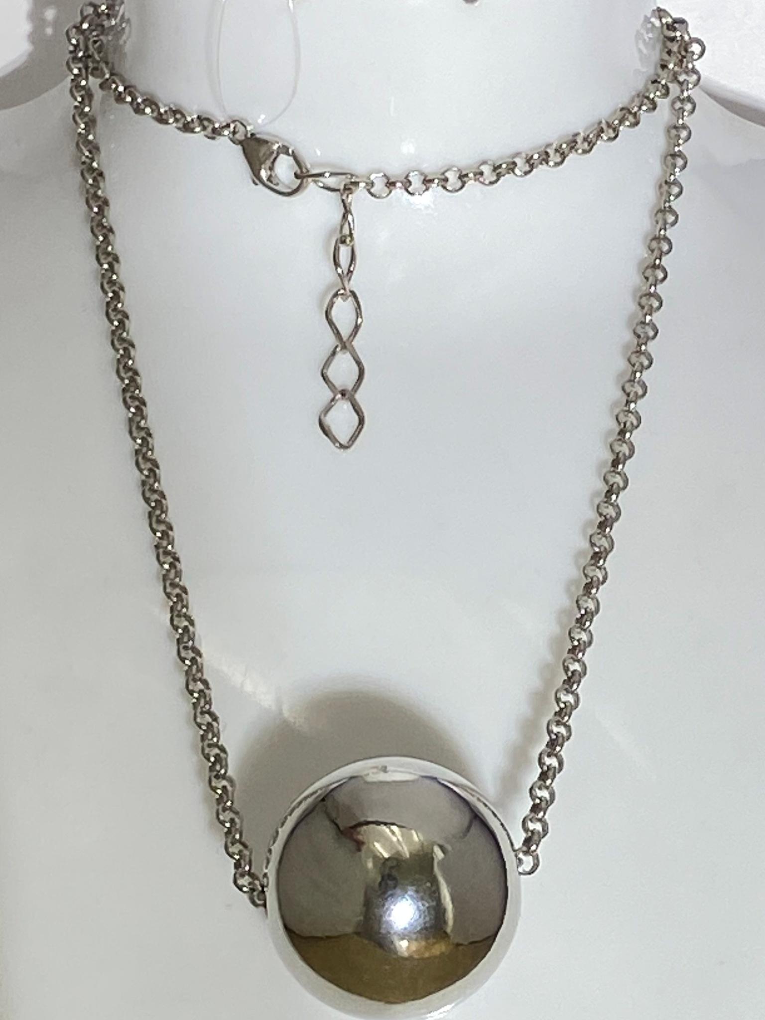 Шар 3,2 (колье из серебра)