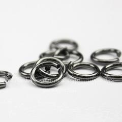 Колечко одинарное TierraCast 7,6х1,2 мм (цвет-черный никель), 10 штук
