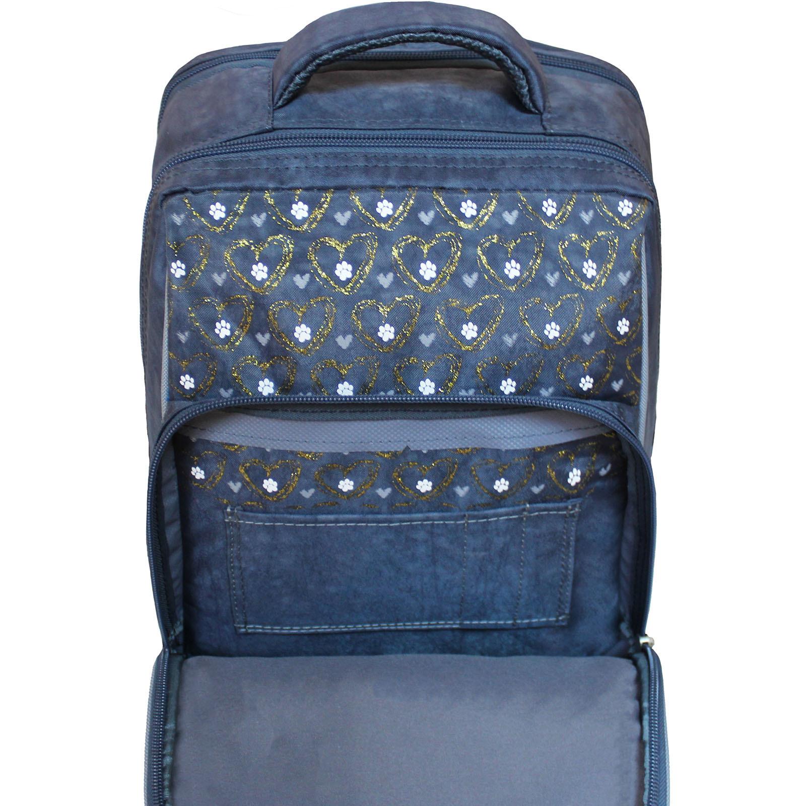 Рюкзак школьный Bagland Школьник 8 л. 321 серый 165к (00112702)