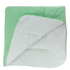 Папитто. Конверт-одеяло велюр с вышивкой, салатовый вид 2