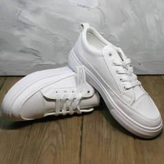 Белые кеды кожаные женские El Passo 820 All White.
