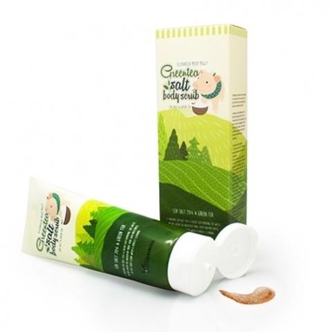 Скраб для тела с зеленым чаем и морской солью ELIZAVECCA Greentea Salt Body Scrub