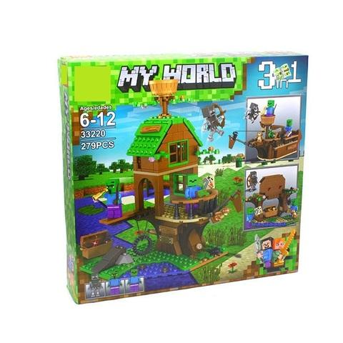 Конструктор My World 33220 Дом-корабль Зомби