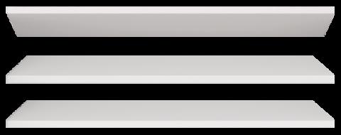Полка Виктория 18 (3 шт в комплекте) к Шкаф для одежды двухдверный 16 Ижмебель белый глянец