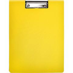 Папка-планшет Attache Selection А4 пластиковая желтая с крышкой