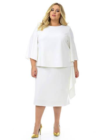 Белое платье - костюм из крепа