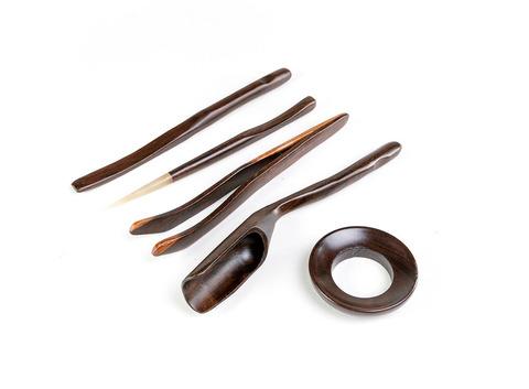 Инструменты для чайной церемонии 5 шт. (Темный бамбук). Интернет магазин чая