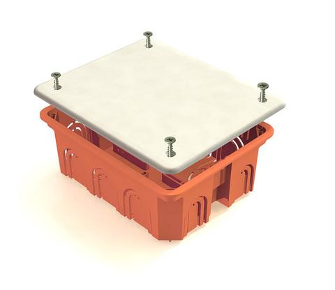 Распаячная коробка СП 120х92х45мм, крышка, IP20, инд. штрихкод, TDM