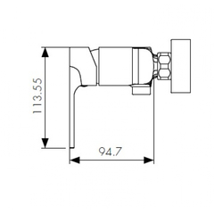 Смеситель KAISER Linear 59177 для душа схема