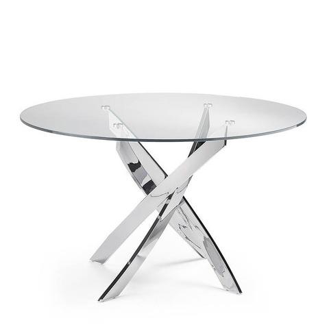 Стол обеденный F2133 стеклянный Ø120