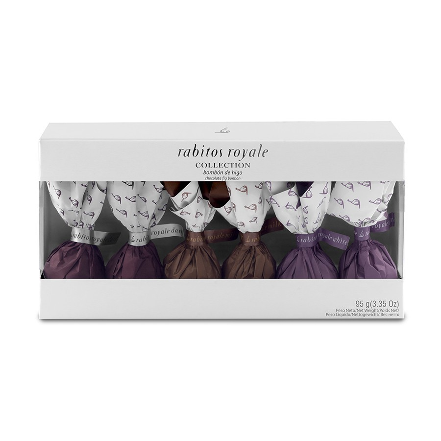 Rabitos Royale Инжир в тёмном, молочном, белом шоколаде Коллекция 3 вкуса  95 г  6 шт