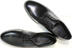 Классические черные туфли кожаные мужские Ikoc 3416-1 Black Leather.
