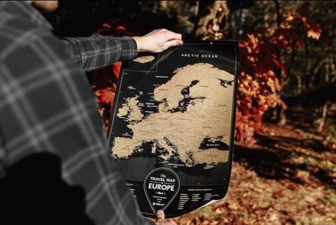 Скретч Карта Европы Black 1DEA.ME