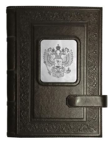 Ежедневник А5 «Герб РФ». Цвет черный