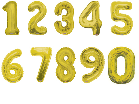 Фольгированный шар Цифра золотая в ассортименте 40