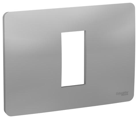 Рамка 1-модульная, Цвет Алюминий. Schneider Electric. Unica Modular. NU210130