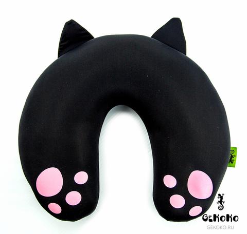 Подушка для шеи, подголовник Gekoko «Уголек», черный 4