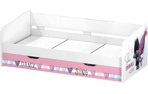 Кровать детская выдвижная Polini kids Fun 4200 Тролли, розовый