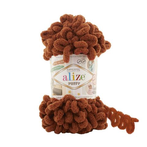 Купить Пряжа Alize Puffy Код цвета 597 Корица | Интернет-магазин пряжи «Пряха»