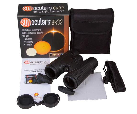 Бинокль солнечный LUNT SUNoculars 8x32, черный - фото 2 - комплект поставки