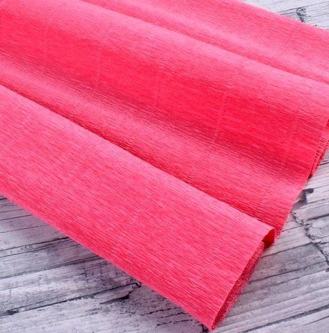 Бумага гофрированная, цвет 601 ярко-персиковый, 180г, 50х250 см, Cartotecnica Rossi (Италия)