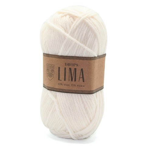 Пряжа Drops Lima 1101 белый