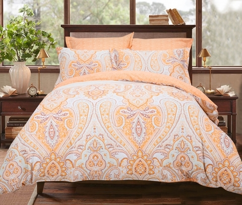 Сатиновое постельное бельё  2 спальное  В-187
