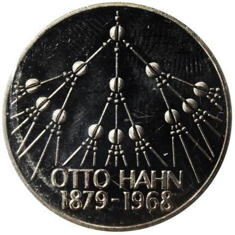 5 марок.  100 лет со дня рождения Отто Гана (G) Медноникель. 1979 г. exPROOF