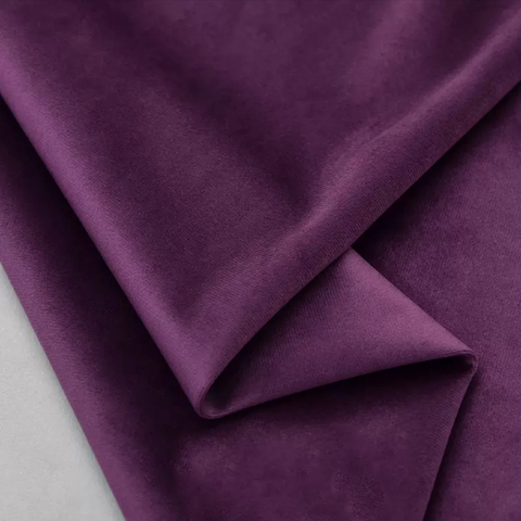 Бархат матовый стрейч, ворс 0,5 мм., фиолетовый (выбрать  размер)