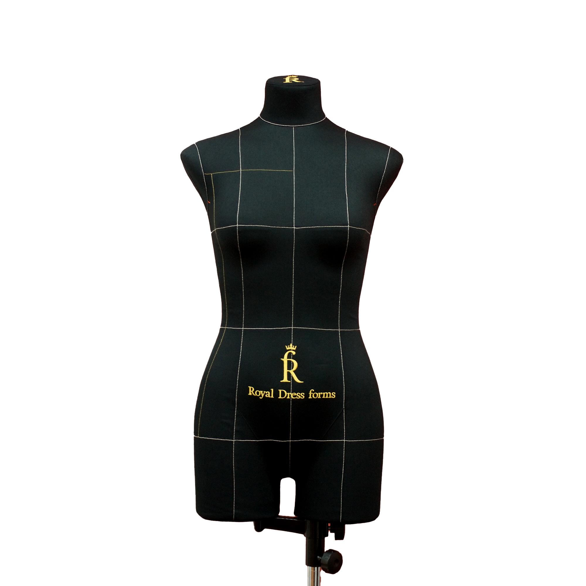 Манекен портновский Моника, комплект Стандарт, размер 44, тип фигуры Прямоугольник, черный